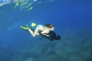 Freedivers, Aegean Sea, Greece, Europe