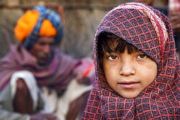Girl, portrait, Pushkar, Rajasthan, India, Asia