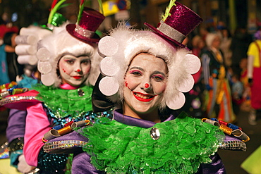 Children in imaginative costumes at the carnival, Santa Cruz de Tenerife, Tenerife, Canary Islands, Spain, Europe