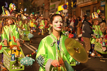 Imaginative costumes at the carnival, Santa Cruz de Tenerife, Tenerife, Canary Islands, Spain, Europe