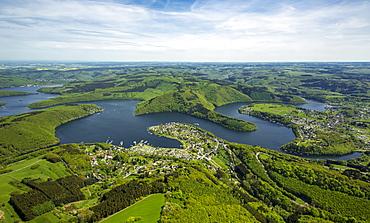 Rur Reservoir, Rur Dam, Simmerath, Eifel, North Rhine-Westphalia, Germany, Europe