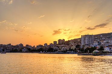 Sunset, Saranda, Sarandë, Qark Vlora, Ionian Sea, Albania, Europe