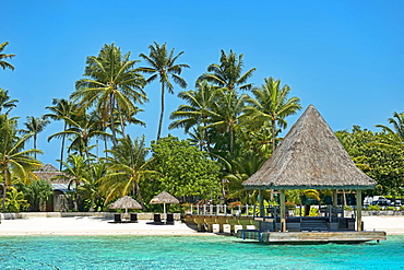 Bungalow on the beach, Bora Bora, French Polynesia, Oceania