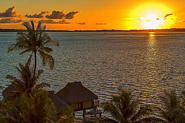 Sunrise over the South Pacific, Bora Bora, French Polynesia, Oceania