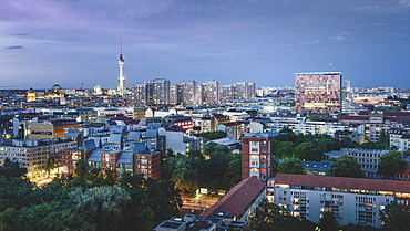 View over the roofs of Berlin to the TV Tower, Berlin, Germany, Europe