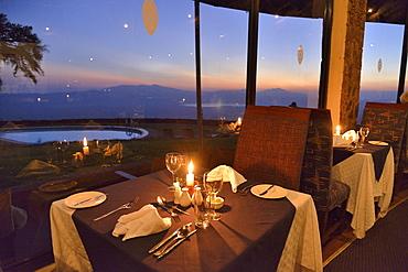 Ngorongoro Sopa Lodge on the Ngorongoro Crater, Ngorongoro Conservation Area, Tanzania, Africa