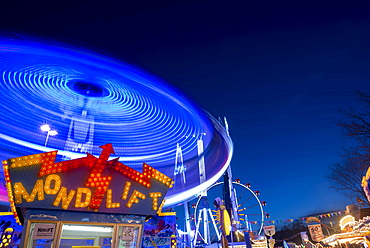 Rides at the Dippemess, traditional folk festival and sales market, Frankfurt am Main, Hesse, Germany, Europe