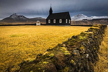 Budir Kirka, church, Snaefellnes, West Iceland, Iceland, Europe