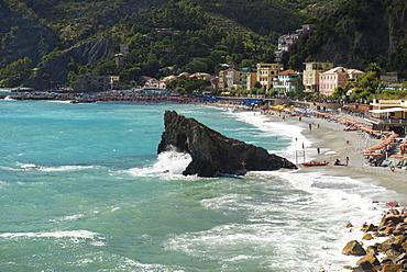 Beach, Monterosso al Mare, Cinque Terre, La Spezia Province, Liguria, Italy, Europe