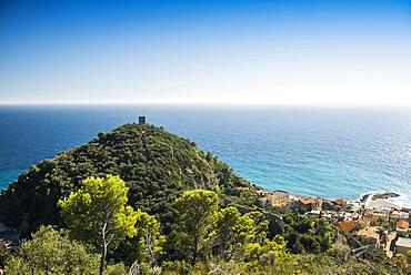The village of Varigotti on the coast, Finale Ligure, Liguria, Italy, Europe
