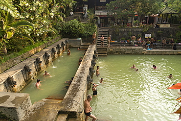 Holy hot springs Air Panas in Banjar, Lovina, Bali, Indonesia, Asia