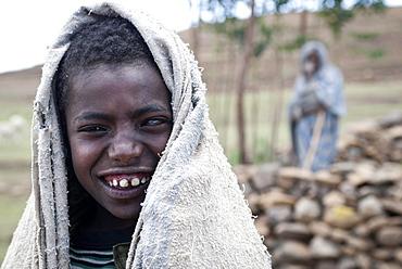 Boy, shepherd in Simien Mountains National Park, Ras Dashen, Ethiopia, Africa