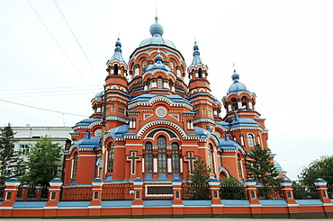 Kazan Cathedral, historic city center, Irkutsk, Siberia, Russia, Europe