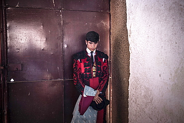 Matador before a bullfight, Barco de Avila, Avila, Castile and Leon, Spain, Europe