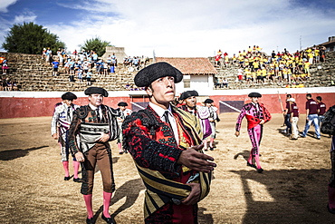 Matadors before a bullfight, Barco de Avila, Avila, Castile and Leon, Spain, Europe