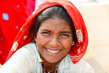 Young Indian woman, portrait, at Mumbai, Maharashtra, India, Asia