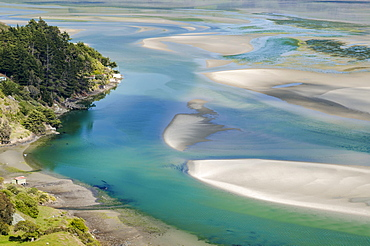 Tidal currents, Hoopers Inlet, Otago Region, South Island, New Zealand, Oceania