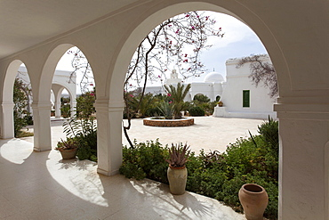 Courtyard, museum of folk culture, Musee du Patrimonie, Guellala, Djerba, Tunisia, Africa