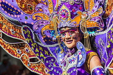 Elaborate costume at the Jember Fashion Festival, East Java, Indonesia, Asia