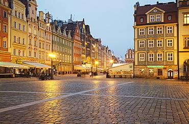 Market square Rynek we Wroclawiu, Wroclaw, Poland, Europe