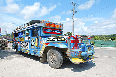 Jeepney bus, Bohol, Philippines, Asia