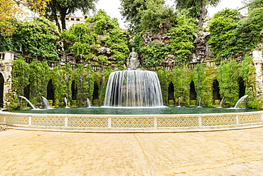 Fontana dell'Ovato, Oval Fountain or Tivoli Fountain, Villa d'Este, Tivoli, Lazio, Italy, Europe