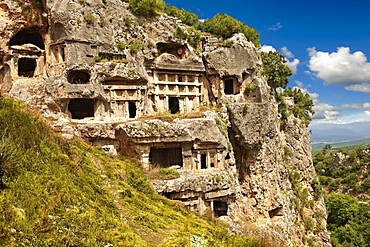Acropolis and ancient Lycian rock tombs of Tlos Archaeological Site, UNESCO World Heritage Site, Tlos, Turkey, Asia