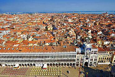View of Saint Mark's Square, Venice, Veneto Region, Italy, Europe