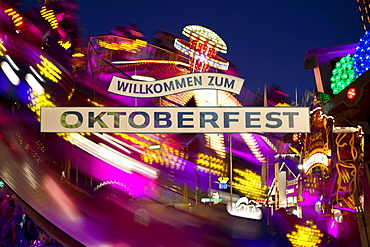 Entrance to the Oktoberfest, Munich, Upper Bavaria, Bavaria, Germany, Europe