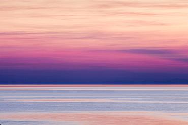 Afterglow, Makarska Riviera, Adriatic coast, Adriatic Sea, Dalmatia, Croatia, Europe