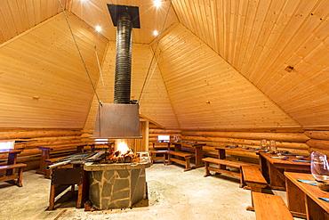 Kota, hut of the Sami people, Sinetta, Lapland, Finland, Europe