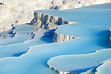 Travertine terrace formations, UNESCO World Heritage Site, Pamukkale, Denizli Province, Aegean Region, Turkey, Asia