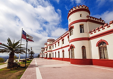 Barracks, military building in the Santa Lucia Park, La Serena, Coquimbo Region, Chile, South America