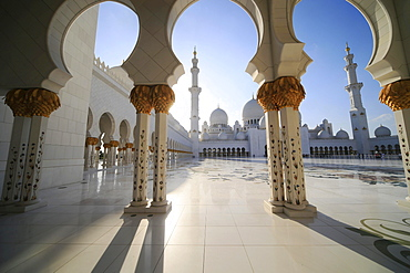 Sheikh Zayed Grand Mosque, Abu Dhabi, Emirate of Abu Dhabi, United Arab Emirates, Asia