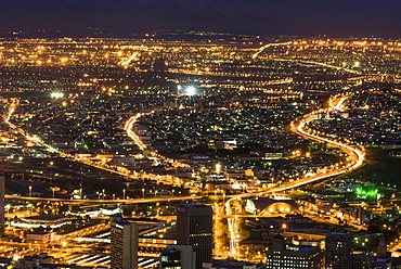 Cityscape at night, Cape Town, Western Cape, South Africa, Africa
