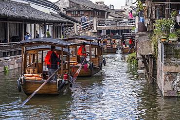 Canal in Wuzhen Xizha, Zhejiong Province, China, Asia