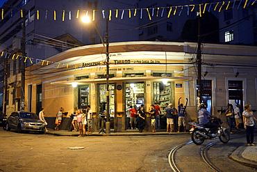 Typical bar in the Santa Teresa neighborhood, Rio de Janeiro, Brazil, South America