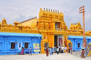 The temple of Sri Lakshmi Narana Perumal, dedicated to the Hindu deity Lakshmi, Trincomalee, Eastern Province, Sri Lanka, Asia