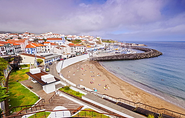 Angra do Heroismo, elevated view, Terceira Island, Azores, Portugal, Europe