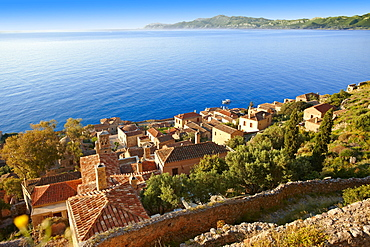 Townscape of Monemvasia, Peloponnese, Greece, Europe