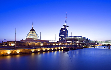 Mediterraneo shopping centre, Atlantic Hotel Sail City, Klimahaus Bremerhaven, Havenwelten, Bremerhaven, Bremen, Germany, Europe