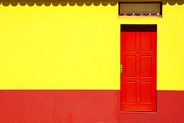 Colorful facade, Aveiro, Centro region, Portugal, Europe