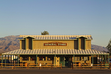 The general store in the morning light, Stovepipe Wells, Death Valley National Park, California, USA, North America