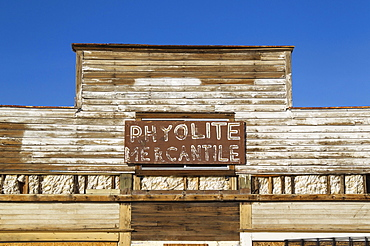 Rhyolite Mercantile, a former general store, ghost town of Rhyolite, Nevada, USA, North America