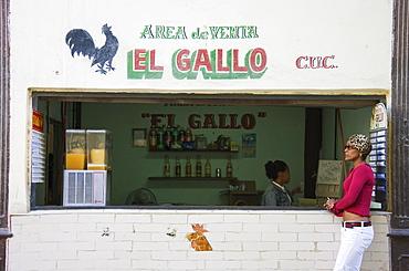 Modest bar, Old Havana, Havana, Cuba, Central America