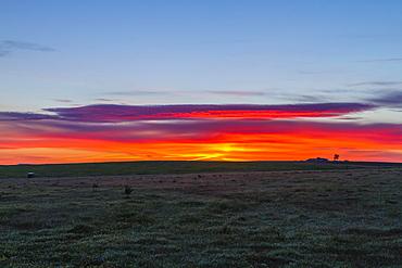 Sunrise in Extremadura, Spain, Europe