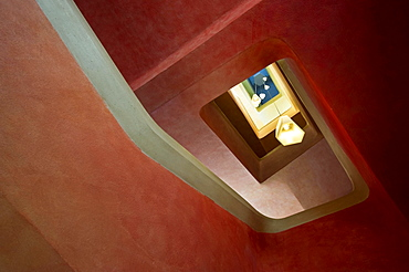 Staircase in the Goetheanum building, seat of the Anthroposophical Society, Dornach, Canton Basel-Landschaft, Switzerland, Europe