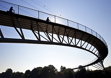 Bridge over the Rhine-Herne Canal, Oberhausen, Ruhr district, North Rhine-Westphalia, Germany, Europe
