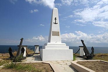 Monument to the Lost Seamen, Zmiinyi Island, Snake Island, Black Sea, Odessa, Ukraine, Eastern Europe
