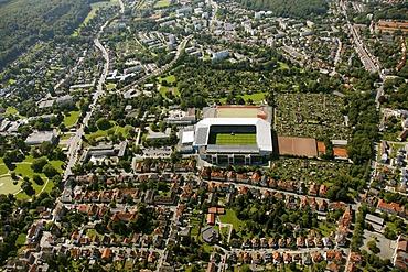 Aerial view, SchuecoArena, Bielefeld, Ostwestfalen-Lippe region, Westphalia, North Rhine-Westphalia, Germany, Europe